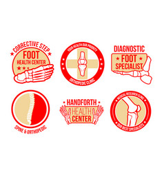 Icons for orthopedics health center vector