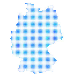 Icy germany map vector