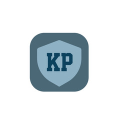 initial letter logo kp template design vector image