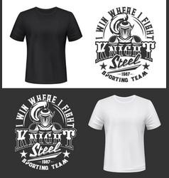 Knight tshirt print mockup sporting team mascot vector
