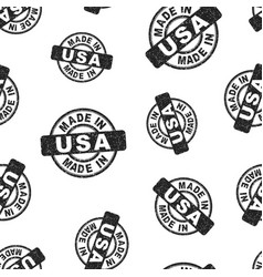 made in usa stamp seamless pattern background vector image