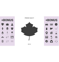 maple leaf icon - graphic elements for your design vector image