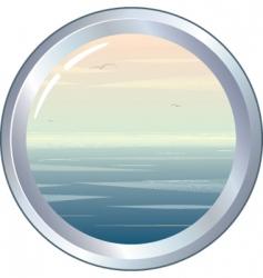Marine porthole vector