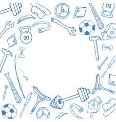 mens accessories instruments sports equipment vector image
