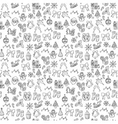 Merry xmas seamless pattern background vector