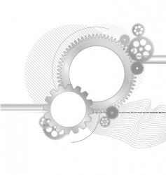 metallic gears background vector image
