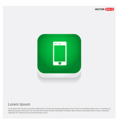 mobile phone icon green web button vector image