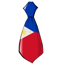 Necktie in national colours of philippines vector