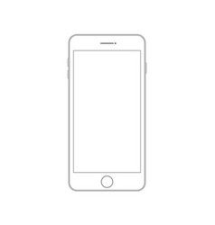 outline drawing modern smartphone smartphone vector image