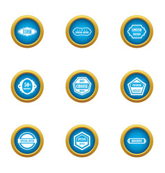 Overcome icons set flat style vector