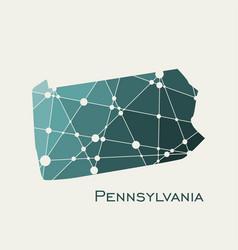 Pennsylvania state map vector