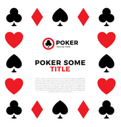 Poker border frame playing cards border ace vector