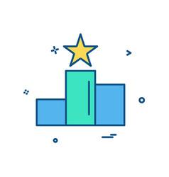 postion star icon design vector image
