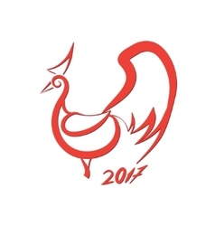 Red rooster logo vector