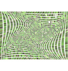 Rotating abstract green grid vector