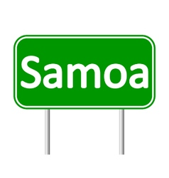 Samoa road sign vector