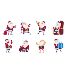 santa claus cartoon christmas cute character vector image
