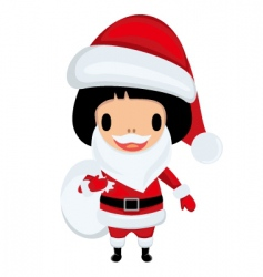 Santa Claus girl vector image