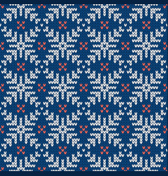 scandinavian knitted seamless pattern norwegian vector image