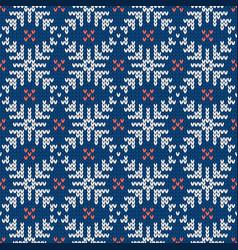 Scandinavian knitted seamless pattern norwegian vector