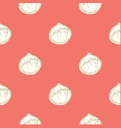 Seamless pattern with buffalo mozzarella vector