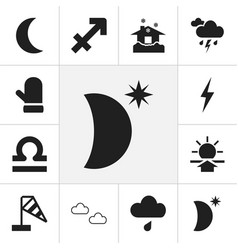 Set of 12 editable air icons includes symbols vector
