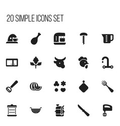 Set of 20 editable cook icons includes symbols vector