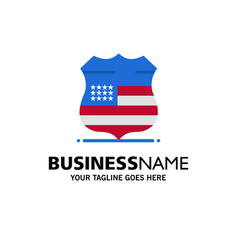 shield sign usa security business logo template vector image