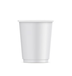 Small paper disposable cup vector