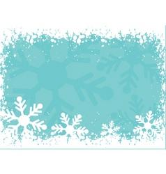 Snowy border vector
