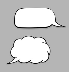 speech bubbles set white blank elements on gray vector image