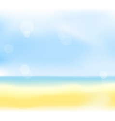 summer sea back vector image