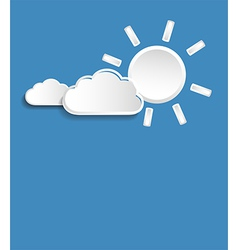 sun and small clouds vector image