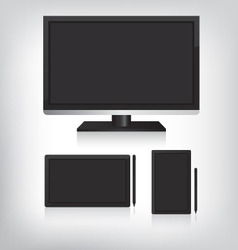 Tablet computer and monitor vector