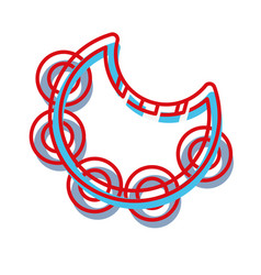 Tambourine music instrument to melody harmony vector