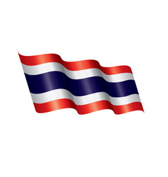 thailand flag on a white vector image