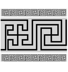 Tibetan style border - buddhist pattern vector