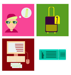 Tourism icon set included icons as tourist guide vector