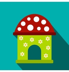 Toy house flat icon vector
