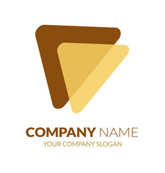 triangle logo template left arrow logo stock vec vector image
