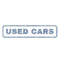 used cars textile stamp vector image