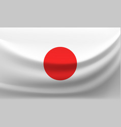 waving national flag of japan vector image