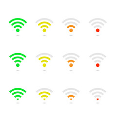 wi-fi signal strength on white template maximum vector image