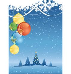winter Christmas vector image