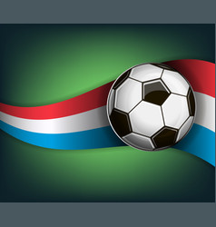 with soccer ball and flag of vector image
