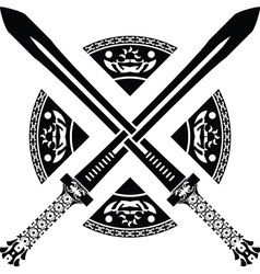 fantasy swords second variant vector image vector image