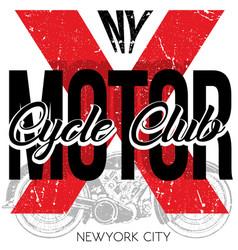 motorsports logo tee denim jersey and fashion vector image vector image