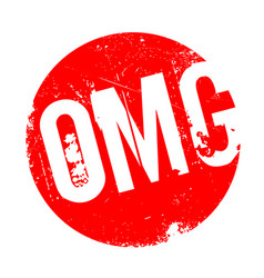 omg rubber stamp vector image vector image