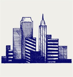 Panoramic city vector image vector image