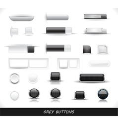 set of grey web buttons vector image vector image